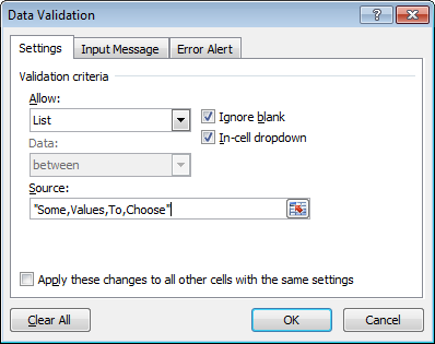 Mastering cell validation lists in Excel
