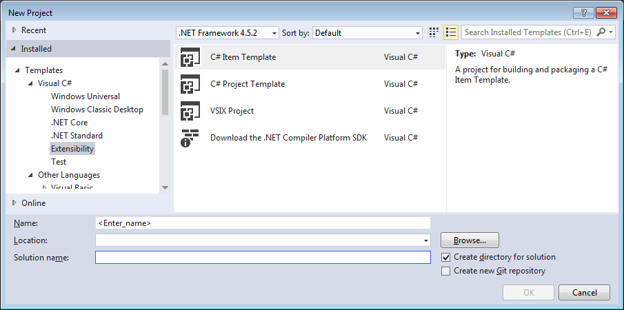 visual studio item templates custom wizards and vsix installers