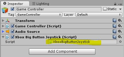 Using the Xbox 360 Scene it controllers in Unity3d